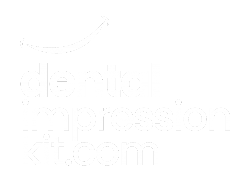 full size stacked dental impression kit logo white